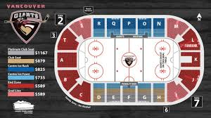 Giants Field Seating Chart 2019 20 Vancouver Giants Season Tickets Vancouver Giants