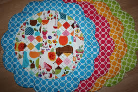 quilted placemats for round tables designs