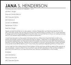 Daycare Resignation Letter Magnetfeld Therapien Info