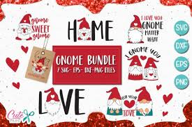 Free svg image & icon. Gnome Saying Bundle Graphic By Cute Files Creative Fabrica In 2020 Valentines Svg Gnomes Graphic Design Pattern