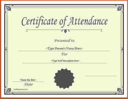 Microsoft Word Certificate Templates certificate of attendance template word certificate of completion 58