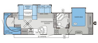 2016 eagle fifth wheels 30 5bhlt floorplan
