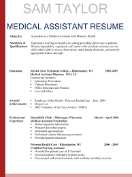 Medical Assistant Objective Resume Medical Assistant