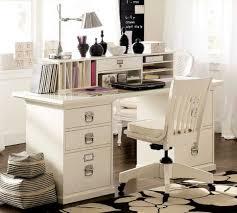 Stylish Elegant Gorgeous Home Office Design Idea With Minimalist White  Furniture