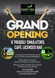 bar grand opening flyer bold modern sports bar flyer design for par tee virtual golf by