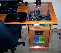 computer built into desk plans precious computer built into desk for home design custom gaming plans