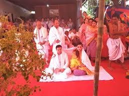Photo Of Loukhatpa Ceremony Of Minister Biswajit And His New Wife