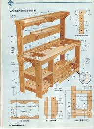 The Bonus Of Making DIY Garden Bench Is That You Can Fix It Using Plans For A Potting Bench