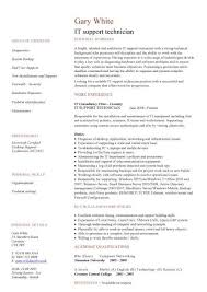 Awesome Collection of Desktop Support Technician Resume Sample Also Example