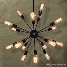 wrought iron chandelier telescopic pendant lamp restaurant bar bedroom lamps industrial cafe suspension luminaires bar edison pendant lamps modern pendant