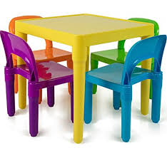 plastic chairs. Plain Chairs Oxgord Kids Table And Chairs Set Includes 4 Plastic 1 Art Craft  Study Activity On L