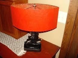 deer lamp shade vintage lamp black deer light planter w red space age deer lamp shades