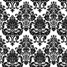 damask black and white free printable wallpaper background freebie 1