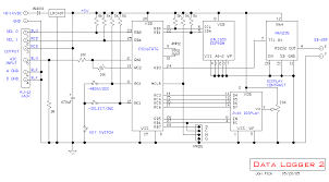 microcontroller based schematics circuits and diagram pic16f876 datalogger