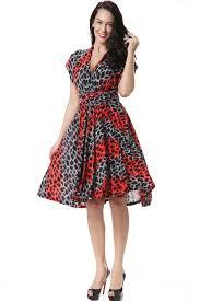Plus Size Skirt Patterns Adorable JHONPETER WOMEN'S MULTIWORN BOHEMIA DRESS LEOPARD PATTERN PLUS SIZE