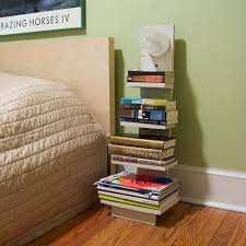 Bedside Bookshelf Light by Mike McCaffrey (made of reclaimed wood, screws,  and food