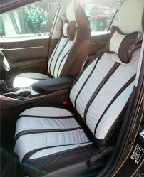 details about premium grey full leather car seat covers for jeep compass grand cherokee