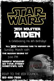 Star Wars Invitations Template Unique 20 Star Wars Birthday