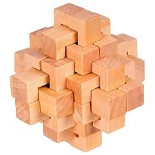 Wooden Brick Game Wooden 100 Unlock Interlocking Brain Teaser Puzzle Game Logic Burr 34