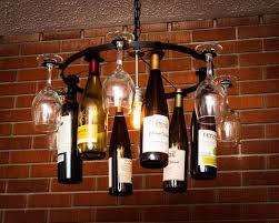 wine glass bottle chandelier wine