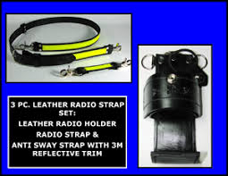 motorola 4000 radio. firefighter leather radio strap \u0026 holder set 3m fire resistant yellow reflective two mic loops - motorola apx 4000
