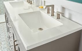 a white solid surface bathroom vanity top choosing a bathroom vanity