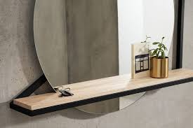 huldra wall mounted mirror with shelf