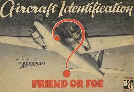 Air Force Aircraft Identification Chart Friend Or Foe Aircraft Identification 1940