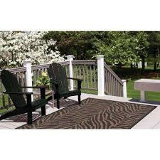 indoor outdoor area recife zebra black cocoa 8 ft x 11 ft indoor outdoor area