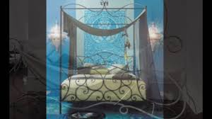 wrought iron canopy bed - YouTube