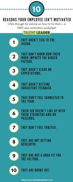 Motivate Leadership 10 Reasons Why Your Employee Isnt Motivated Interesting Blogs