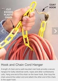 Extension cord storage
