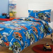 boys truck bedding cool black and blue monster truck comforter bedding set for small