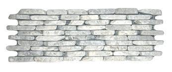rock wall tile river pebble wall tiles white stacked stone wall tile