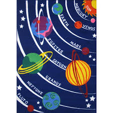 la rug fun time solar system multi colored 8 ft x 11 ft area