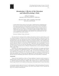 absenteeism a review of the literature and school psychology s  absenteeism a review of the literature and school psychology s role pdf available