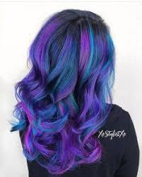 purple violet red cherry pink bright hair colour color coloured colored fire style curls haircut lilac