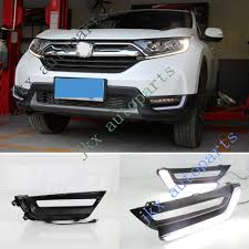 Drl Light Honda Crv Details About 2pcs Deluxe White Led Drl Lights Fog Lamp Turn Signal For Honda Crv 17 18