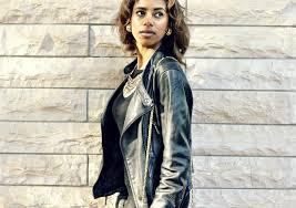 photography by rawdha al saket dress by top leather jacket