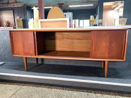 arne vodder for h p hansen credenza refinished teak made in denmark 1960 69 4 felt lines drawers adjule shelving behind sliding doors