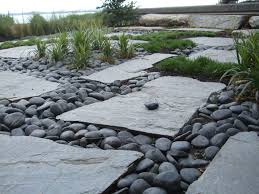 flagstone landscaping. Natural Stone Makes For An Optimal Ground Cover In Gardens And Yards. It  Has A Very Distinct Look, Is Low Maintenance, Natural, Can Help To Draw The Flagstone Landscaping E