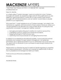 Best Cover Letter Best It Cover Letter Examples Livecareer