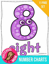 Number Chart For Toddlers Number Preschool Printables Preschool Mom