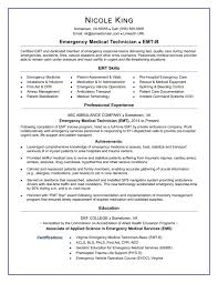 Emt Resume Sample Monste Adisagt