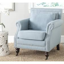 com safavieh mercer collection kn club chair sky blue kitchen dining