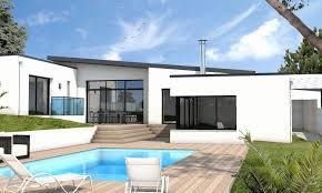 maison cubique plain pied de plan maison moderne plain pied toit plat raviraj