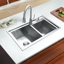 kitchen sink set stainless steel kitchen sink set double bowl drawing drainer handmade brushed seamless sink