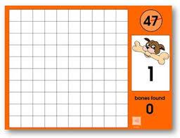 Give The Dog A Bone Online Game Hundreds Chart Fun Math