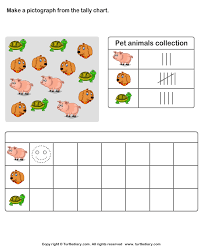 Record Data With Pictographs Worksheet Turtle Diary