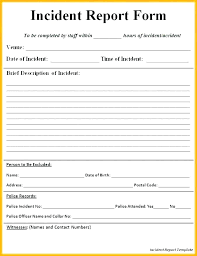 Free Incident Report Template Workplace Form St Nsw Work